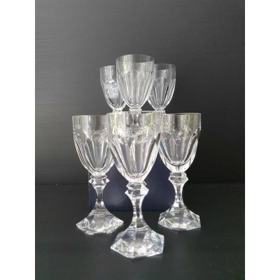 "6 Saint Louis ""chambord"" Service Water Glasses."