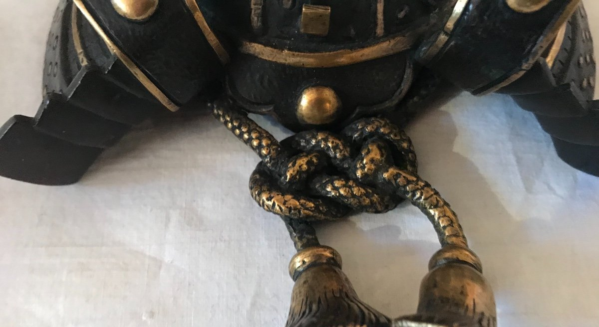 Small Double Patina Bronze Samurai Helmet. Ref: 333-photo-2