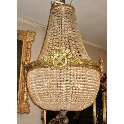 Bronze And Crystal Mongolfiere Chandelier. Ref: 166
