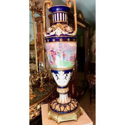 """Large Vase Of SÈvres Signed """"lucot"""" Ref: 305"""