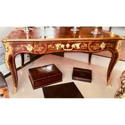 Louis XV Office, Napoleon III Period, In Marquetry. Ref: Ch101
