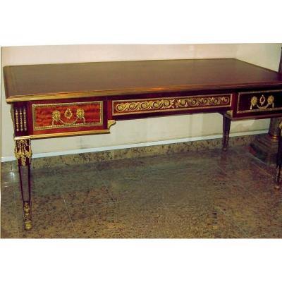 Large Flat Desk In Louis XVI Style, XIXth. Ref: 212