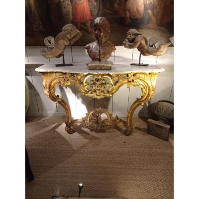Console Bois Doré époque Louis XV