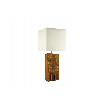 1960's Ceramic Lamp In The Style Of Roger Capron