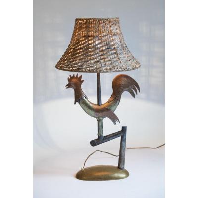 Lampe Fer Forgé Vers 1940 Dans Le Goût De Gilbert Poillerat