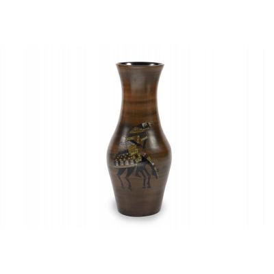 Grand Vase En Céramique 1950 Par Jean De Lespinasse