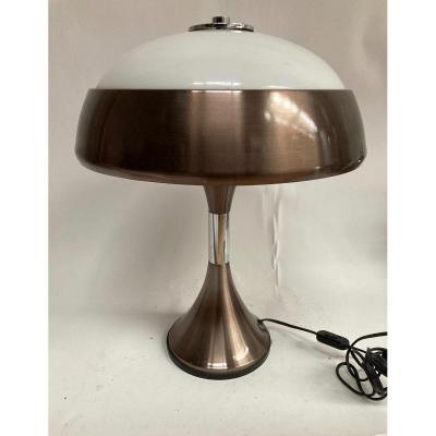 Lampe Vintage 1970 Metal Et Altuglass