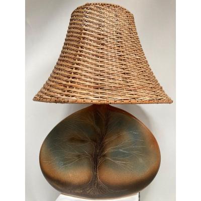 Lampe En Céramique 1970 Dans Le Gout De Vallauris