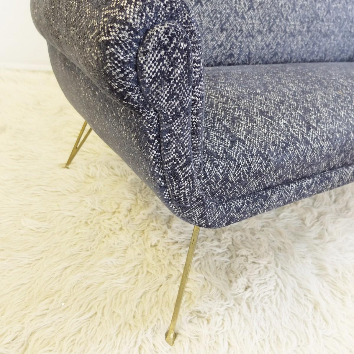 Sofa Italien Des Années 60 - Entièrement Recouvert -photo-2
