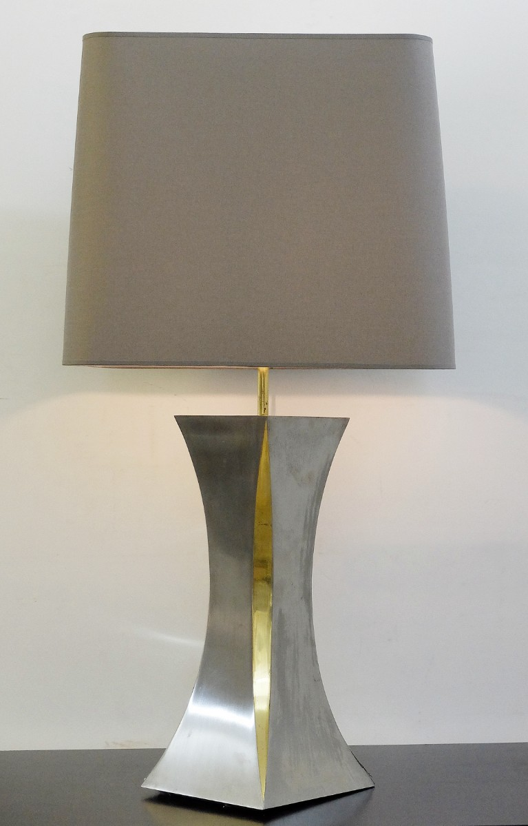Lampe De Table En Aluminium Brossé