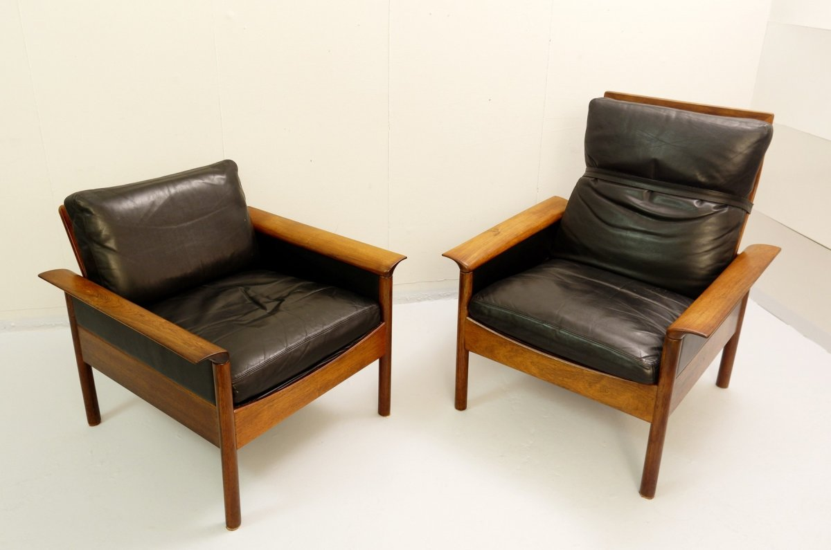 Leolux Living Room Set Consisting Of A Three-seater Sofa And Two Armchairs-photo-5