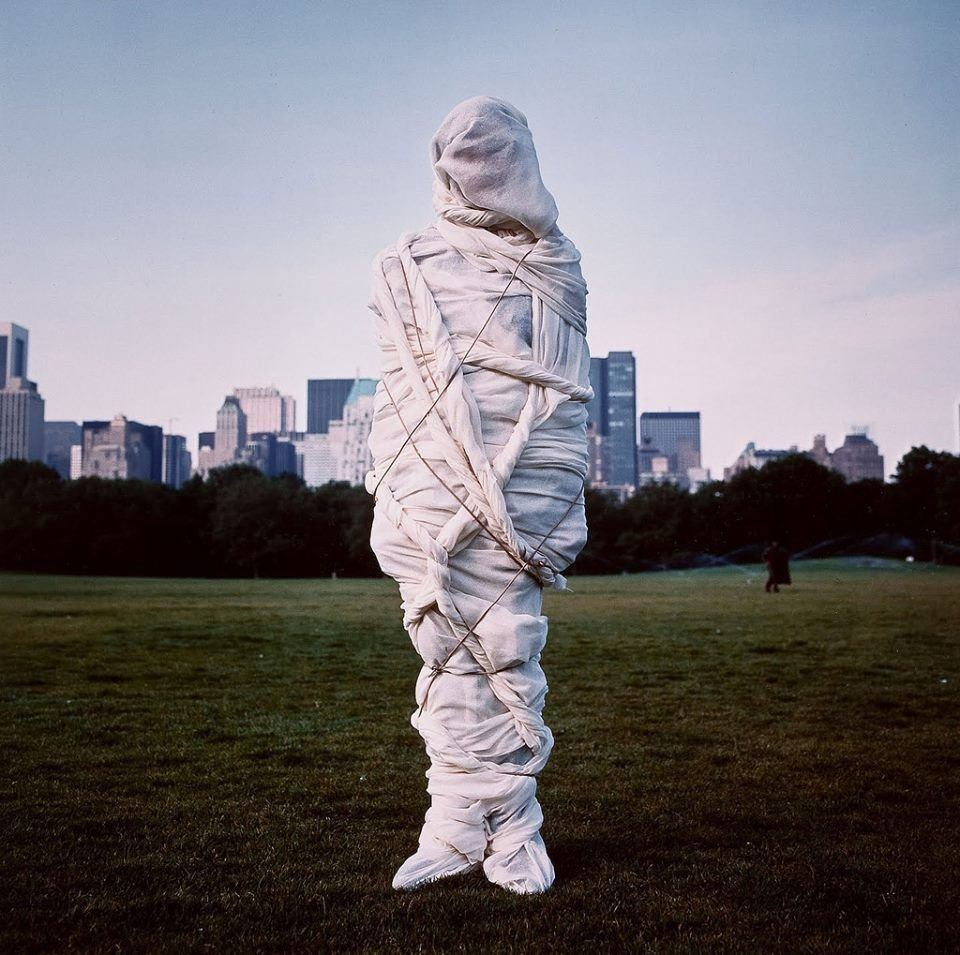 "Annie Leibovitz ""Christo, Central Park, New York"" 1981 Cibachrome"