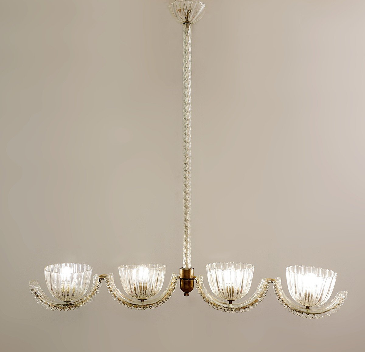 Ercole Barovier Murano 4 Luminous Arms - 1930