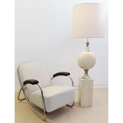 Sculptural Large Lamp By Philippe Barbier For Maison Barbier 1970's