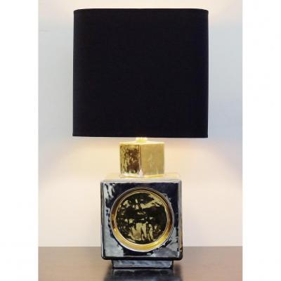 Lampe Cube Italienne En Céramique De Zaccagnini