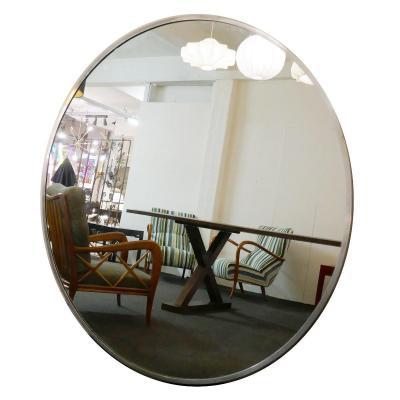 Miroir Rond Surdimensionné Avec Cadre En Métal