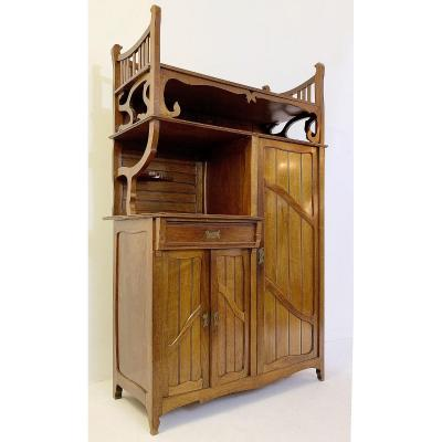 Art Nouveau Mahogany Wardrobe - Belgium