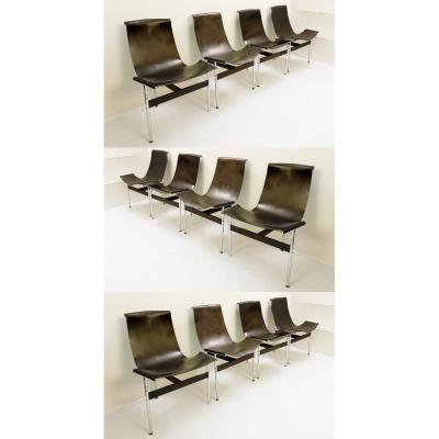 "Douglas Kelly, Ross Littell And William Katavolos Set Of 12 ""t"" Chairs"