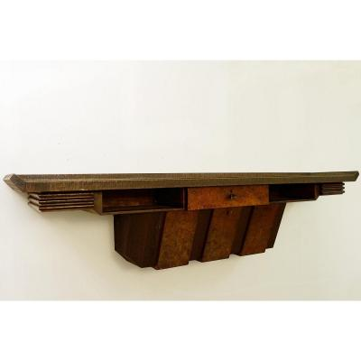 XXl Wooden Console From Pier Luigi Colli, Italy - 1950s