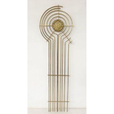 Sculpture En Laiton Des Années 70