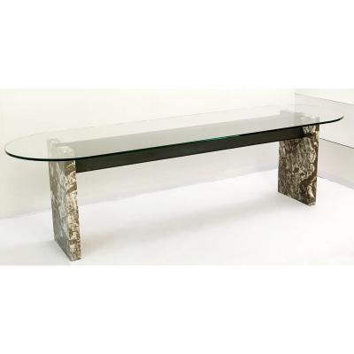 Steel And Marble Dining Table By Lazzotti For Up & Up