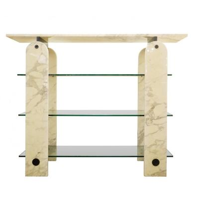 Glass And Marble Shelf