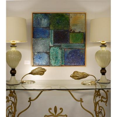 Mixed Media On Panels - French Work