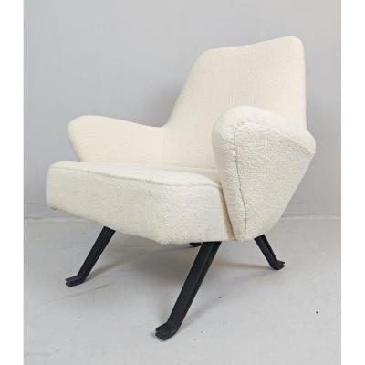 Italian Armchair By Formanova, Newly Upholstered