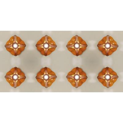Goebel Ceramic Flower Wall Lamps - Germany, 1960s - 8 Available -