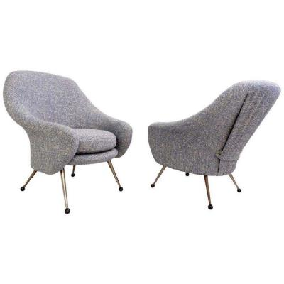 Marco Zanusso Pair Of Martingale Model Armchairs Produced By Arflex