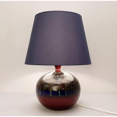 Lampe De Table En Poterie Allemande De 1814 Hutschenreuther Le Lion - 1960s