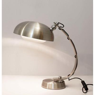 Arc Desk Lamp In Brushed Chrome
