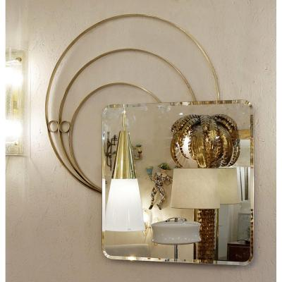Large Italian Wall Mirror By Luciano Frigerio, 1960s - 2 Available