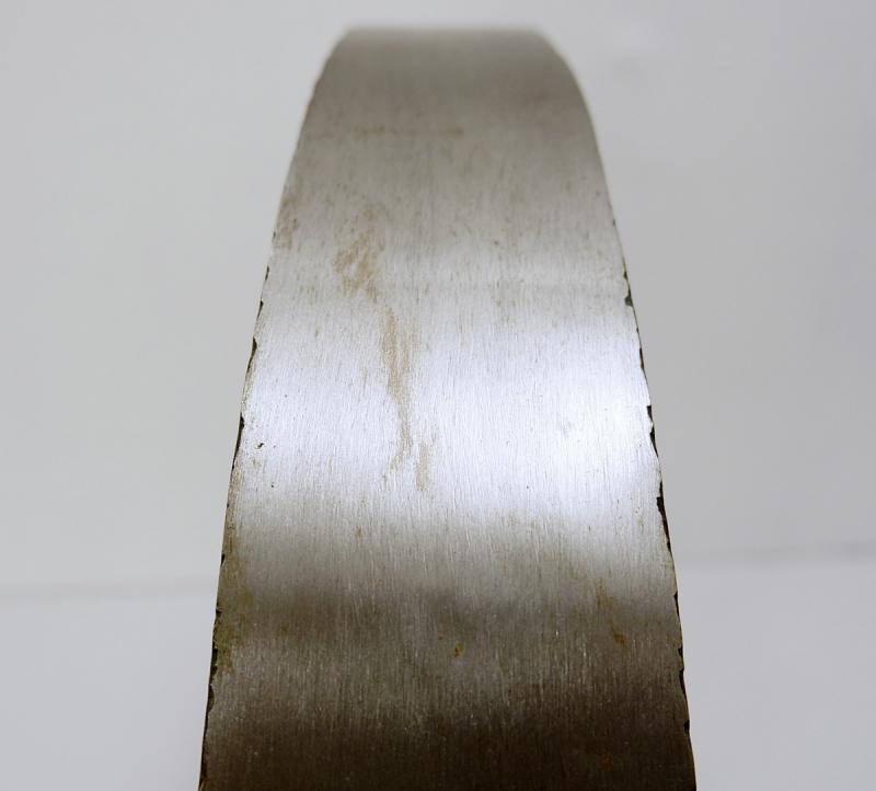Sculpture En Arc En Aluminium Brossé Et Améthyste-photo-2