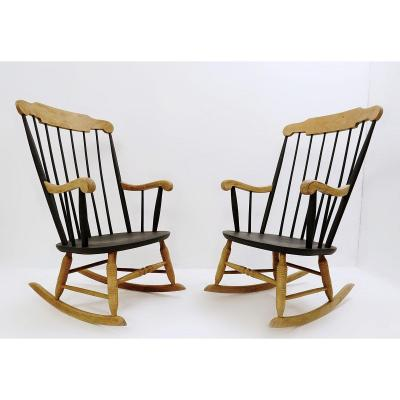 Pair Of Rocking Armchairs