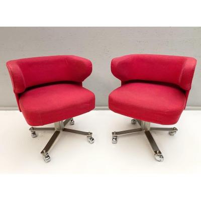 'pony' Office Chairs By Gianni Moscatelli For Formanova Milano, 1970s - Price Per Piece