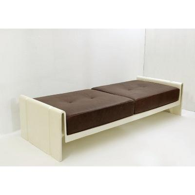 Daybed In Leather And Fiberglass By Rodolfo Bonetto - Italy 1969