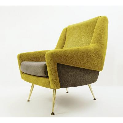 Two-tone Italian Armchair - 1950s