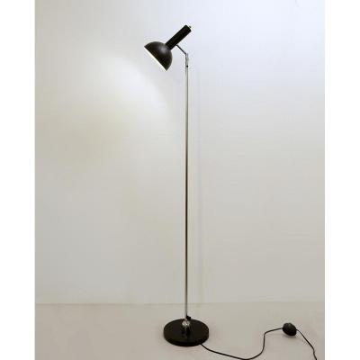 Lampadaire Noir d'Herman Theodoor & Jan Anthoin Busquet Pour Hala Zeist, 1964