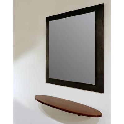 """Miroir en acier de Franck Robichez """"Primitif"""" Paris, 2000s"""