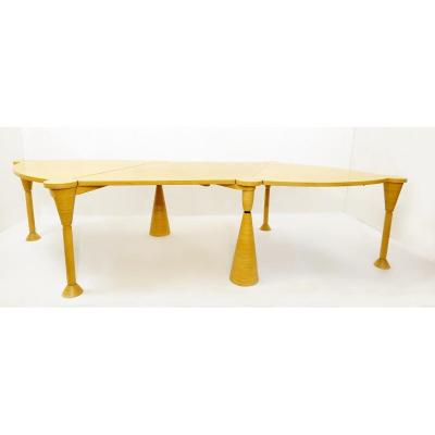 Contemporary Extendable Table By Baudouin Fettweis, Belgium