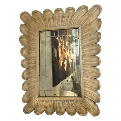 Carved Wood Mirror, 1940s