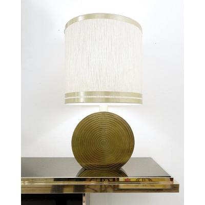 Brass Disc Table Lamp