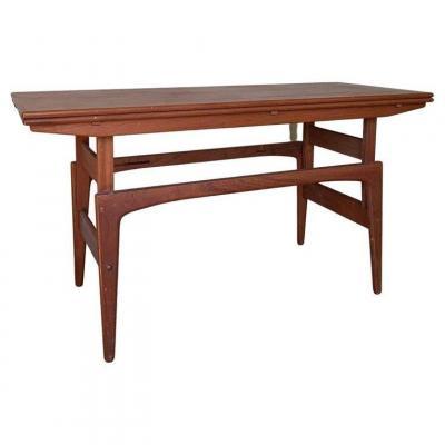 Table/console/table Basse 3 Fonctions Mid-century Par Kai Kristiansen - Danemark Années 1960