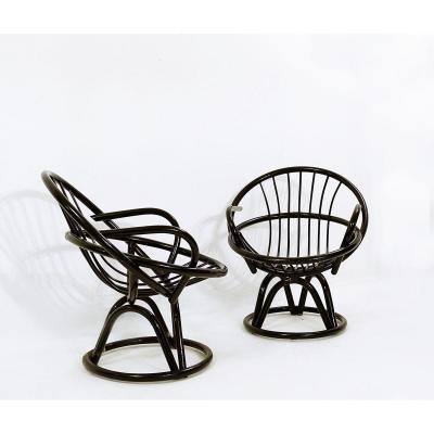 Fauteuils En Forme De Coquillage Laqué Noir, 1960s, Set De 2