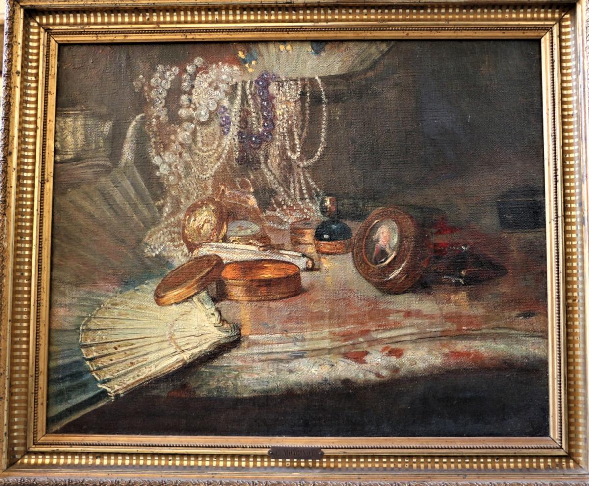 Charles Monginot bijoux, collier de perles, boites en or