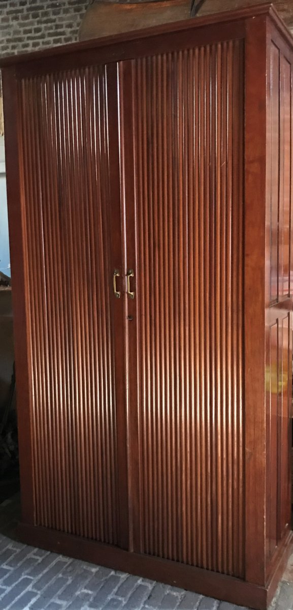 High Notary Cabinet With Mahogany Curtains, American, Australien