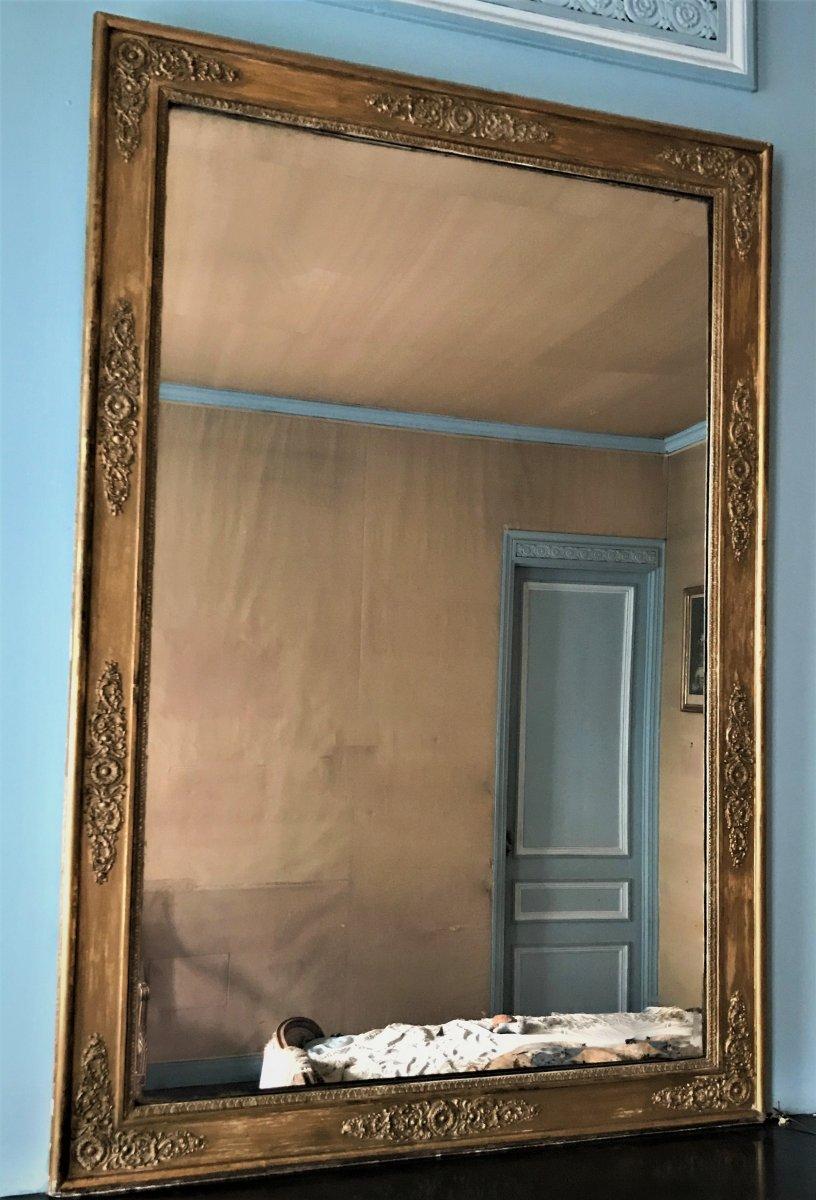 Restoration Mirror In Gilded Wood XIXth