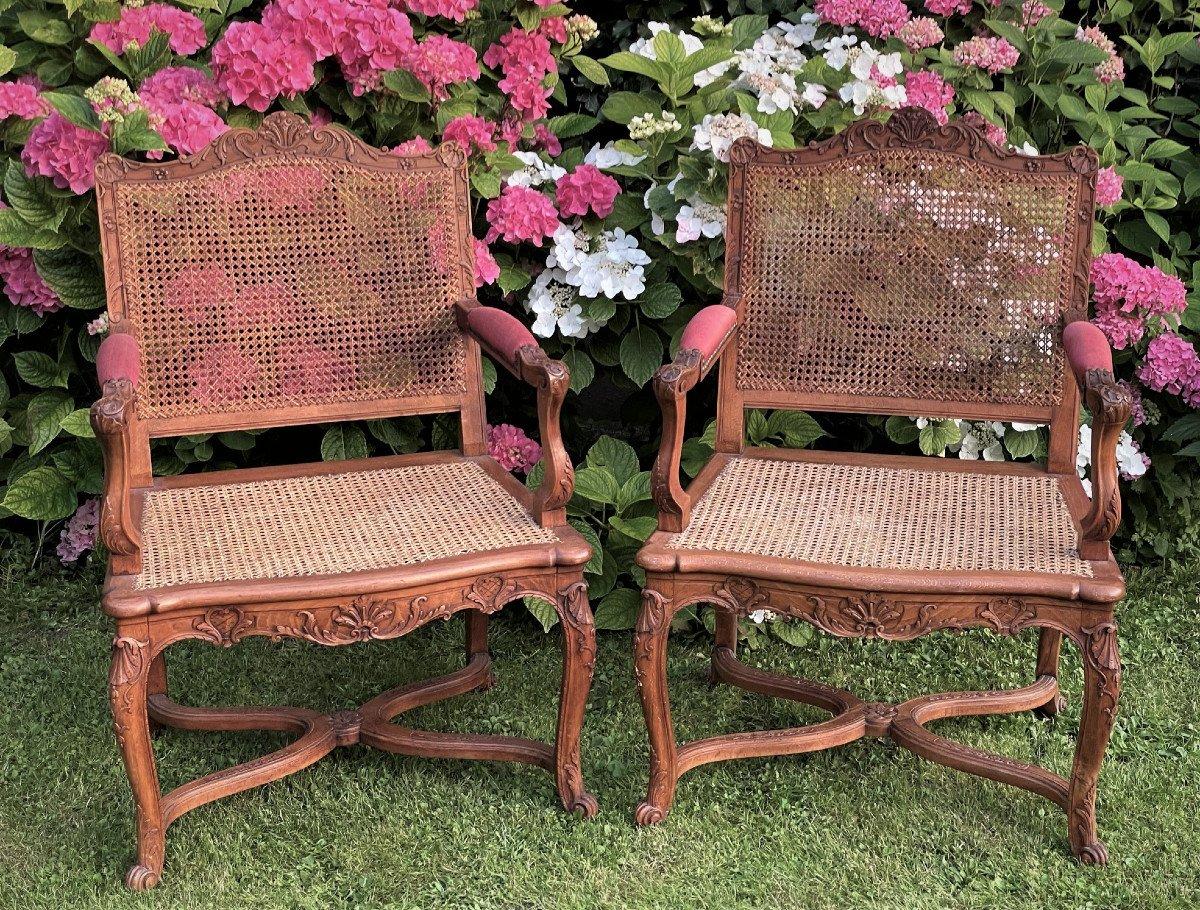 Pair Of Regency Style Armchairs-photo-2