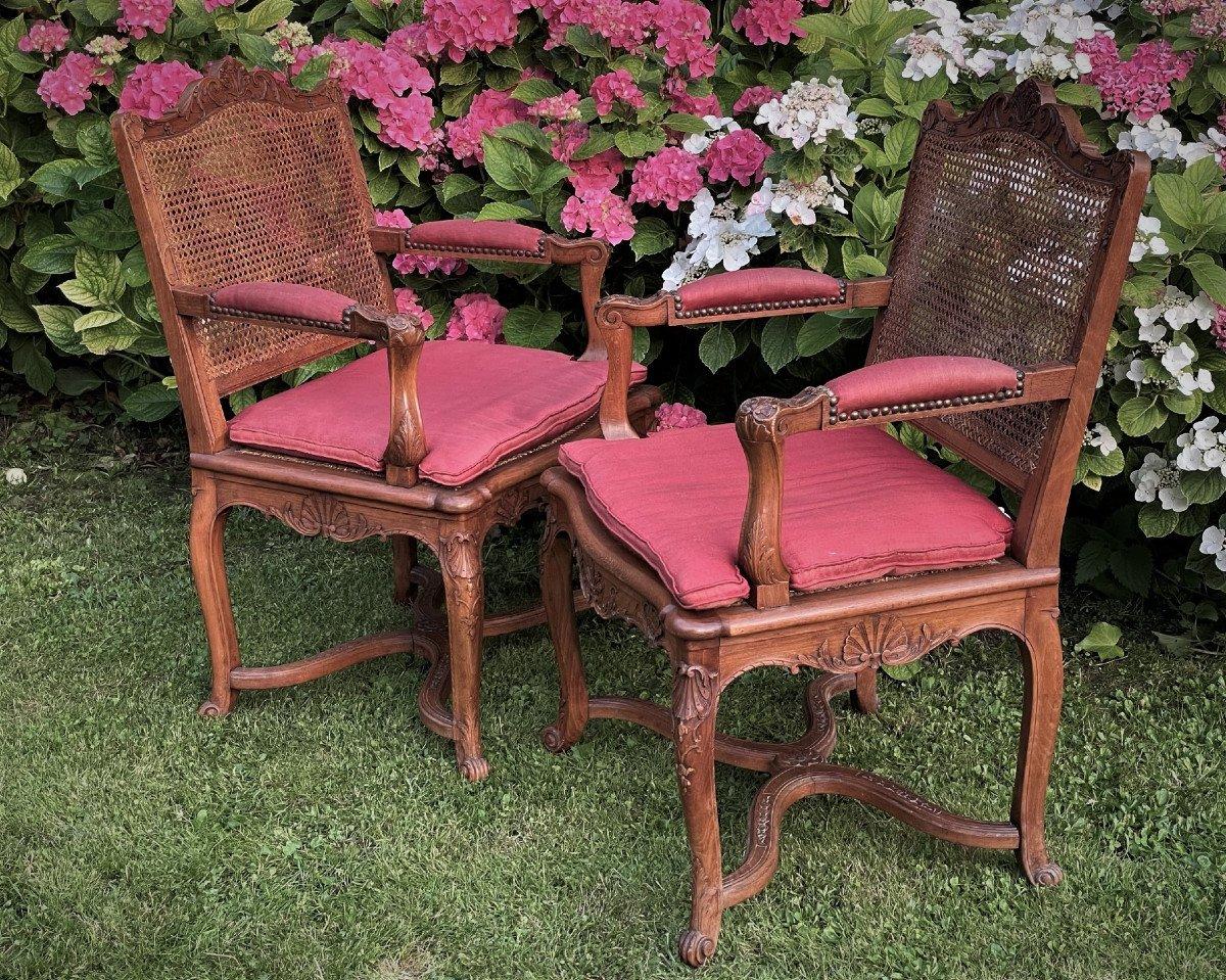 Pair Of Regency Style Armchairs-photo-4